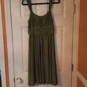 Sage Semiformal Grecian Midi Dress